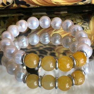 💛 Genuine South Sea pearl bracelets TWO LEFT